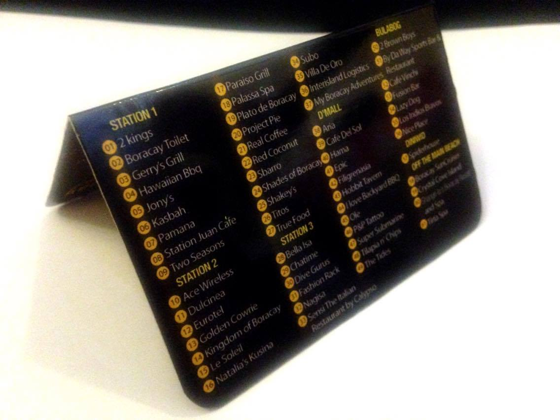 VIP Card - List of Establishments